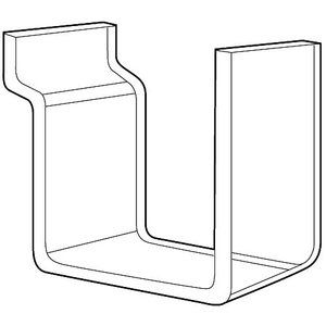 Acrylic Hook for Slatwall or Slatgrid