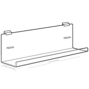"Acrylic J Racks Large for Slatwall with Tilt, 36"""