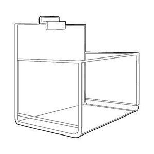Single Bin, Acrylic Apparel Display for Slatwall