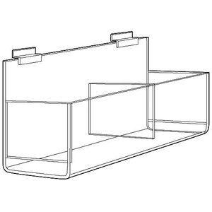 Double Bin, Acrylic Apparel Display for Slatwall