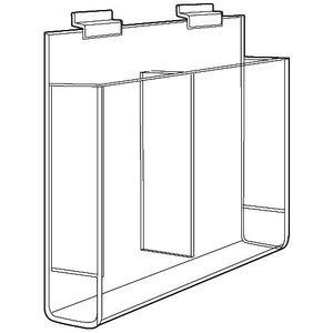 "Acrylic 2-Pocket Delux Brochure Holders, 8"" x 11"""