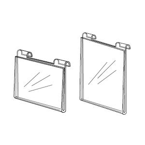 Gridwall Acrylic Horizontal Sign Holders