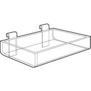 """Acrylic Gridwall Display Trays, 12"""" x 4"""" x 2"""""""