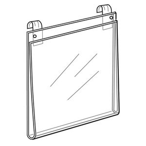 """Acrylic T-shirt displays for Gridwall, 13"""" x 13-3/4"""""""