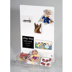 Counter Magnet Display with trays - White