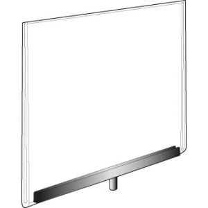 Acrylic Sign Holders with Chrome Channel - 70PJ57
