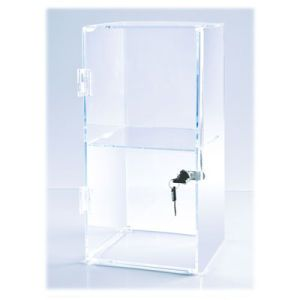 """Front Opening Acrylic Countertop Showcases, 10"""" x 20"""" x 10"""""""