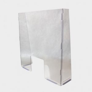 Free Standing Sneeze Guard with Access Hole