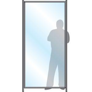 Free Standing Sneeze Guard, Body Panel