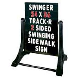 Swinger© Sidewalk & Roadside Signs - 70V7013BLK-SSW-MB