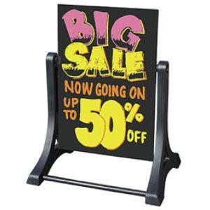 Swinger© Sidewalk & Roadside Signs - 70V7013BLK-SSW-WO