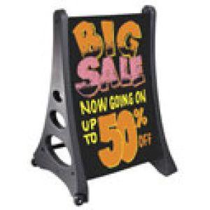 QLA© Quick Load Rolling A Frame Sidewalk Signs - 70V7013QLA-WO-BK