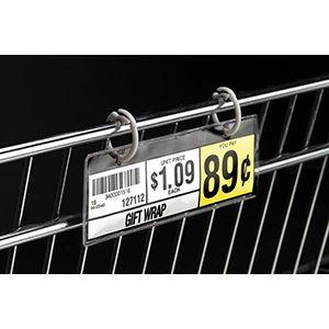"UPC Holder, for Wire Shelf, 5"" x 1-1/4"""