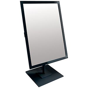 Jewelry Countertop Adjustable Reactangle Mirror, Black