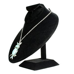 Black, Necklace Bust Display