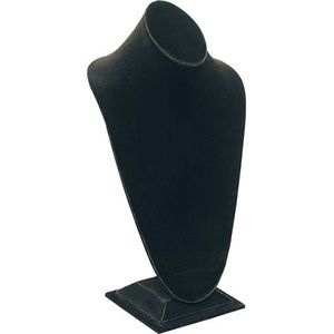Black, Tall Bust Necklace Display