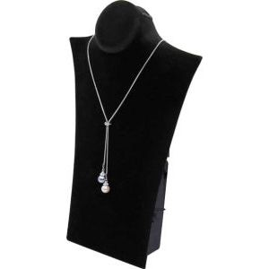 Black, Padded Necklace Stand with Easel