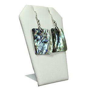 White, Single Pendant/Earring Angled Display