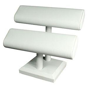 White, Bracelet Oval 2 Bar T-Bar