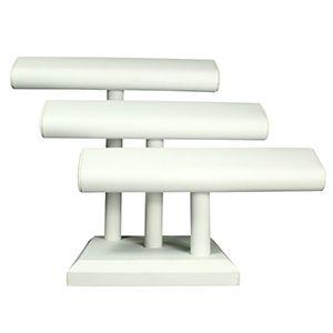 White, Bracelet  Oval T-Bar 3 Bar