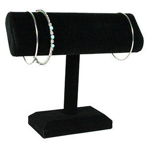 Black, Oval Single T-Bar for Bracelets