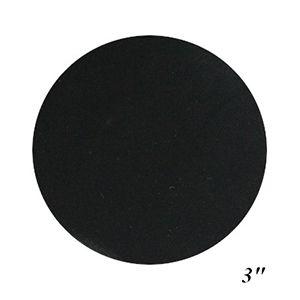 "3"" Black, Jewelry Circle Display Pads"