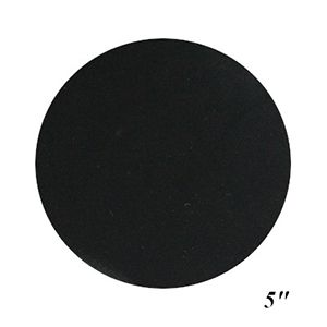 "5"" Black, Jewelry Circle Display Pads"