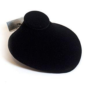 "Necklace Jewelry Display for Slatwall, Black Velvet, 4.75"" x 4.625"" x 2.125"""