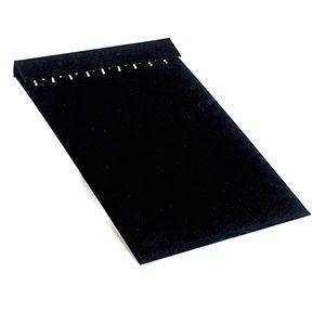 "Necklace Jewelry Board for Slatwall, Black Velvet, 9.5"" x 13.875"""