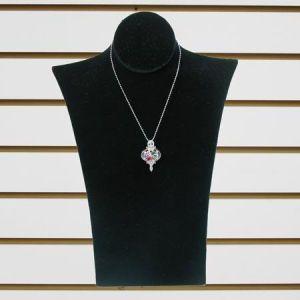 """Jewelry Necklace Display, Black Velvet, 8"""" x 12"""""""