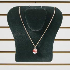 """Jewelry Necklace Display, Black Velvet, 8"""" x 10"""""""