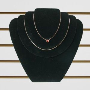 """Jewelry 3 Necklace Display, Black Velvet, 9"""" x 11"""""""