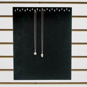 """Jewelry 23 Hook Display, Black Velvet, 12"""" x 15"""""""