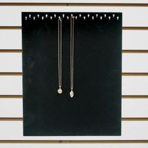 """Jewelry 23 Hook Display, White Faux, 12"""" x 15"""""""