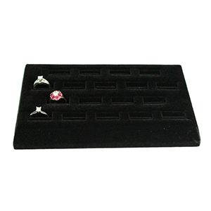 Black, 18 Slot Ring Tray