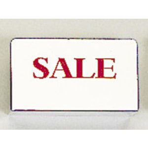 """Red on Silver, """"SALE"""" Showcase Signs"""