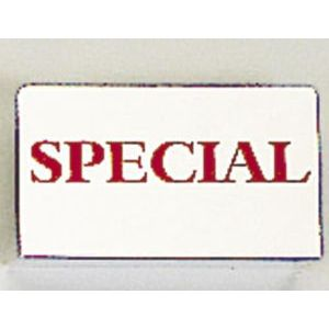 """Red on Silver, """"SPECIAL"""" Showcase Signs"""