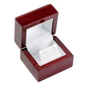 Rosewood Veneer Hinged Jewelry Boxes, for Earring