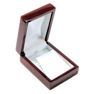 Rosewood Veneer Hinged Jewelry Boxes, for Pendant/Earring