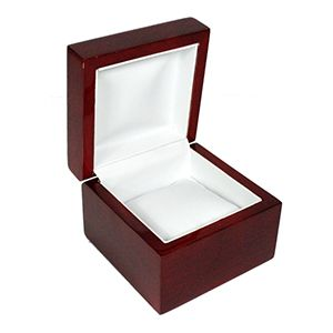 Rosewood Veneer Hinged Jewelry Boxes, for Watch with Pillow