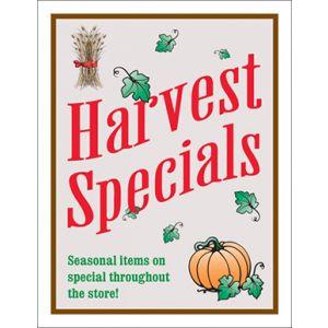 """Window Poster, """"Harvest Specials """", 28"""" x 36"""""""