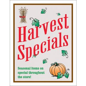 "Hanging Poster Set, ""Harvest Specials "", 24"" x 32"""