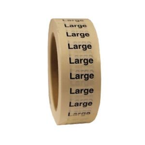 """Large ""L"" Clear Rectangle Size Labels"