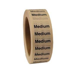 """Medium ""M"" Clear Rectangle Size Labels"