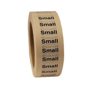 """""""Small """"S"""" Clear Rectangle Size Labels"""