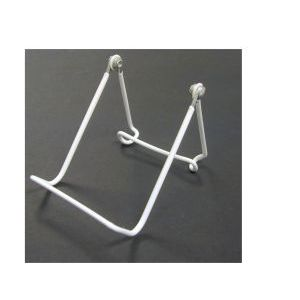 """Wire Vinyl Coated Easels, White, 4"""" x 3.75"""""""