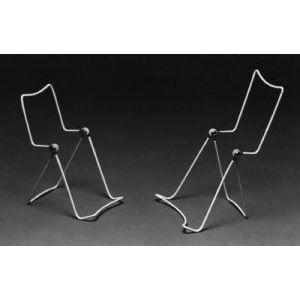 """Wire Vinyl Coated Easels, White, 6.5"""" x 3.75"""""""