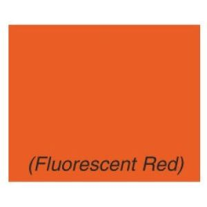 Monarch 1136 Labels, Fluorescent Red