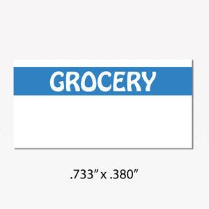 "Monarch 1110 Labels, White/Blue ""GROCERY"""