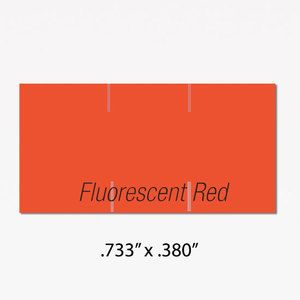 Monarch 1110 Labels, Fluorescent Red